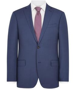 Austin Reed - Contemporary Fit Light Blue Birdseye Jacket