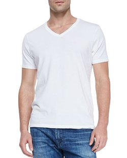 AG Adriano Goldschmied	  - Short-Sleeve V-Neck T-Shirt