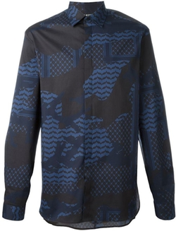 Neil Barrett - Patterned Camouflage Shirt
