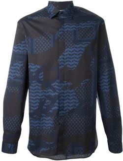Neil Barrett - Patterned Camouflage Shirt