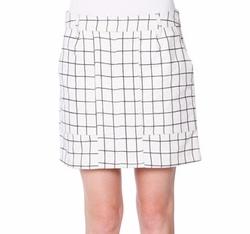 Tomas Maier - Jigsaw Check A-Line Skirt