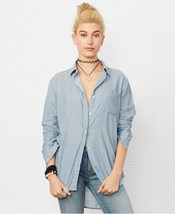 Denim & Supply Ralph Lauren - Long-Sleeve Boyfriend Shirt