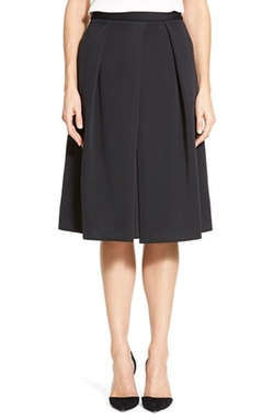 Vince Camuto - Pleat Front A-Line Skirt
