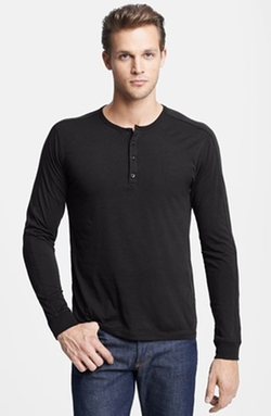 Vince - Long Sleeve Knit Henley Shirt