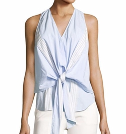 Derek Lam 10 Crosby  - Sleeveless Poplin Wrap Top