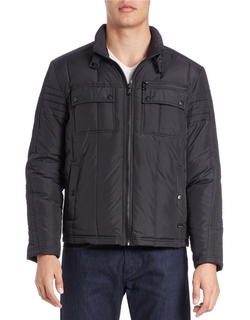 Kenneth Cole New York - Quilted Zip-Front Jacket