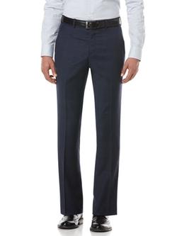 Perry Ellis - Blue Plaid Suit Pant