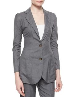 Giorgio Armani  - Patch-Pocket Woven Jacket