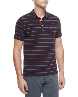 Billy Reid - Pensacola Striped Pique Polo Shirt