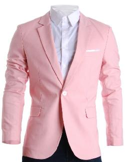 Flatseven - Mens Slim Fit Cotton Stylish Casual Blazer Jacket