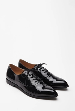 Forever 21 - Faux Patent Leather Oxford Shoes