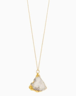 Charming Charlie - Ice Organic Druzy Pendant Necklace