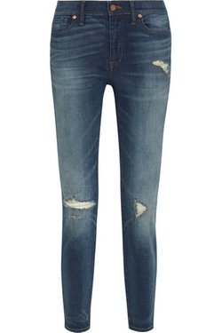 Madewell  - The High Riser Distressed Skinny Jeans