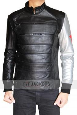 Synthetic Leather - SILVER ARMOR BUCKY LEATHER JACKET