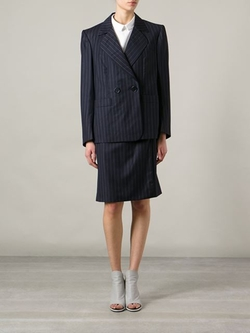 Yves Saint Laurent Vintage - Pinstripe Skirt Suit