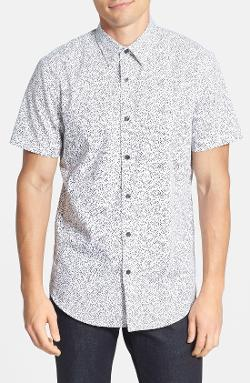 Calibrate - Trim Fit Print Short Sleeve Sport Shirt