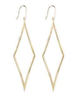 Lana - 14k Gold Aura Diamond-Drop Earrings