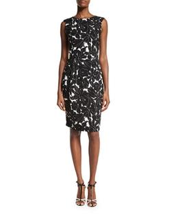 Oscar De La Renta - Floral-Print Sheath Dress