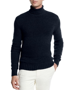Loro Piana - Textured Baby Cashmere Turtleneck Sweater