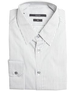 Gucci - Striped Cotton Point Collar Dress Shirt