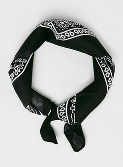 Topman - Black Paisley Bandana Scarf