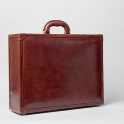 Maxwell Scott Bags -  Large Leather Attache Case