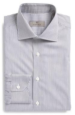 Canali - Regular Fit Stripe Dress Shirt