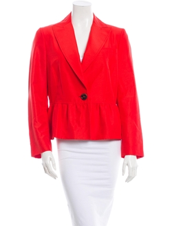 Valentino - Red Peaked Lapel Jacket