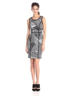 Calvin Klein - Scoopneck Printed Sheath Dress
