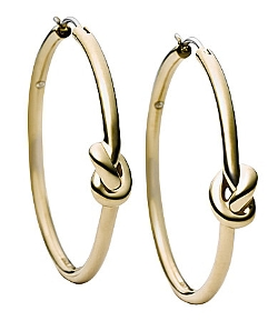 Michael Kors - Smooth Metal Knot Hoop Earrings