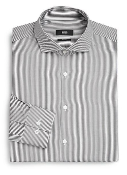 Boss Hugo Boss  - Slim-Fit Striped Dress Shirt