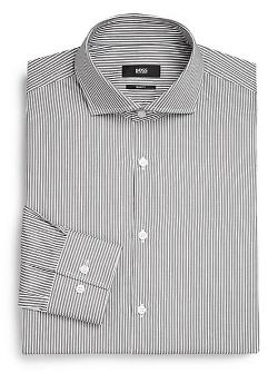 Boss Hugo Boss  - Slim-Fit Striped Dress Shirt