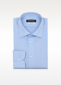 Forzieri - Solid Non Iron Cotton Dress Shirt