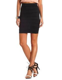 Charlotte Russe - HIGH WAISTED BANDAGE SKIRT