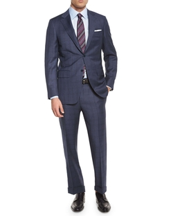 Canali  - Plaid Two-Piece Wool Suit
