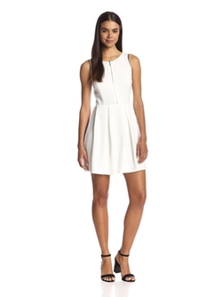 Dex  - Zip Front Fit-and-Flare Dress