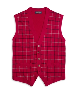 Brooks Brothers - Saxxon Wool Tattersall Button-Front Vest
