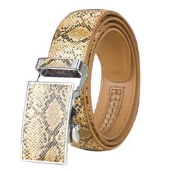 Radyman - Snakeskin Leather Automatic Buckle Waist Belt