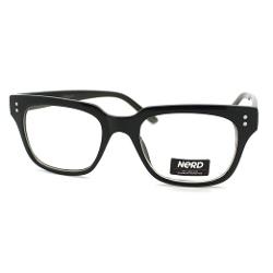 Juicyorange - Petite Square Horn Rim Frame Fashion Nerdy Eyeglasses
