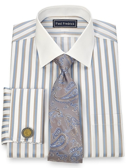 Paul Fredrick - Cotton Spread Collar Dress Shirt