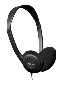 Maxell  - 190319 HP-100 Lightweight Stereo Headphones
