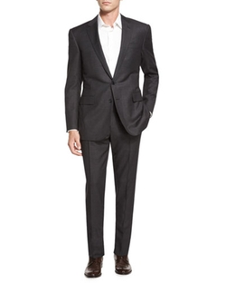 Ralph Lauren Black Label - Anthony Birdseye Two-Piece Wool Suit, Charcoal