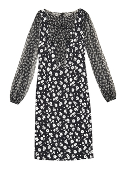 Dolce & Gabbana - Tie-Neck Daisy-Print Dress