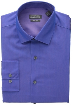 Kenneth Cole Reaction - Regular Fit Chambray Solid Shirt