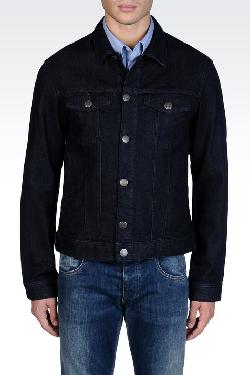 armani - SLIM JACKET IN STRETCH DENIM