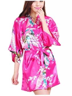Crazycatz - Kimono Style Satin Robe