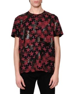 Valentino - Camo & Star-Print T-Shirt