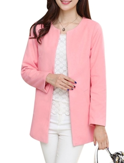 Uxcell - Padded Shoulders Worsted Coat