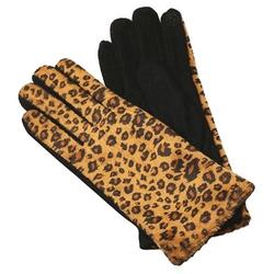 Sylvia Alexander  - Leopard Print Faux Fur Knit Gloves