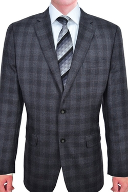 Tasso Elba - Plaid 2 Button Wool Blazer